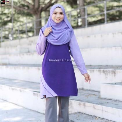 Tshirt Muslimah Humaira Eliya - Cool Purple (HD290)