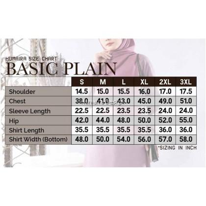 Tshirt Muslimah Humaira Basic Plain -  Burnt Orange (HB32)