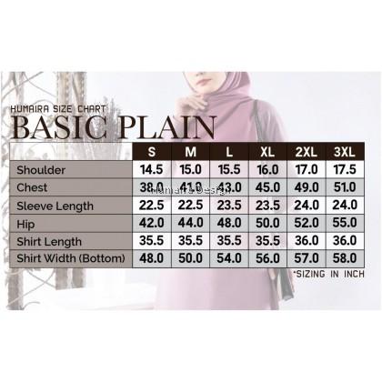 Tshirt Muslimah Humaira Basic Plain - Pink Magenta (HB24)